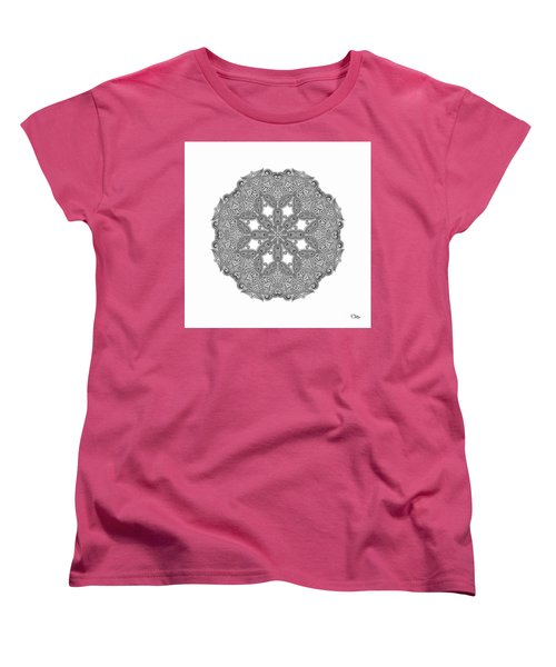 Mandala To Color Women's T-Shirt (Standard Cut) by Mo T