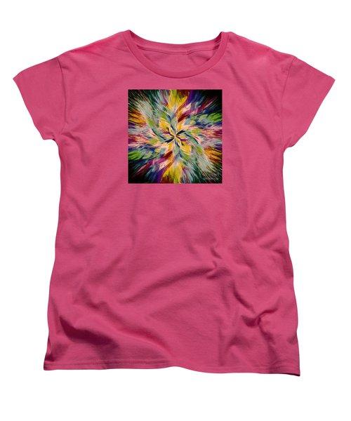 Women's T-Shirt (Standard Cut) featuring the photograph Mandala Twirl 04 by Jack Torcello