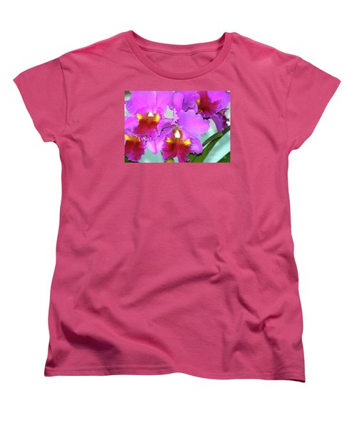 Many Purple Orchids Women's T-Shirt (Standard Cut) by Lehua Pekelo-Stearns