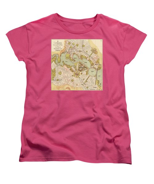 Map Of Canberra 1913 Women's T-Shirt (Standard Cut) by Andrew Fare