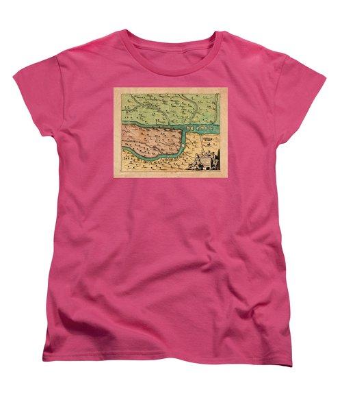 Map Of Iraq 1680 Women's T-Shirt (Standard Cut) by Andrew Fare