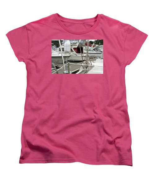 Women's T-Shirt (Standard Cut) featuring the photograph Marina Stuff by Yurix Sardinelly
