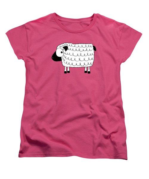 Marshmallow The Sheep Women's T-Shirt (Standard Cut) by Lucia Stewart