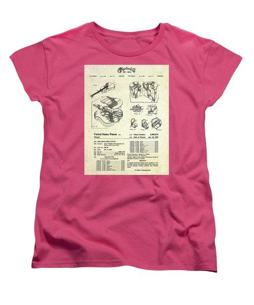 Martin Guitar Patent Art Women's T-Shirt (Standard Cut)