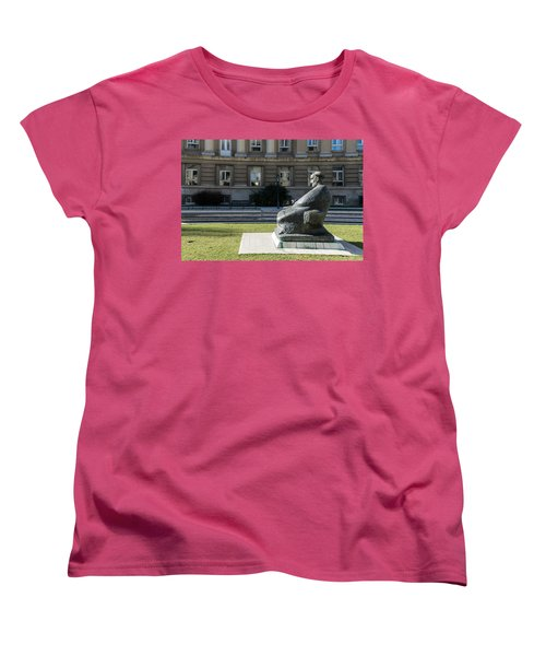 Marulic Square Zagreb  Women's T-Shirt (Standard Cut) by Steven Richman
