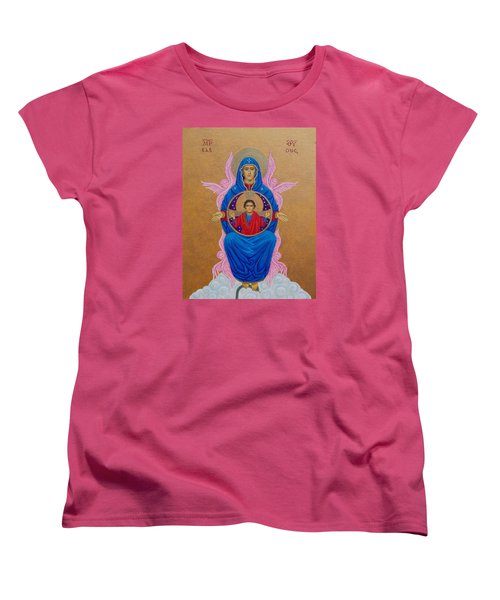 Mary Mother Of Mercy Icon - Jubilee Year Of Mercy Women's T-Shirt (Standard Cut) by Michele Myers