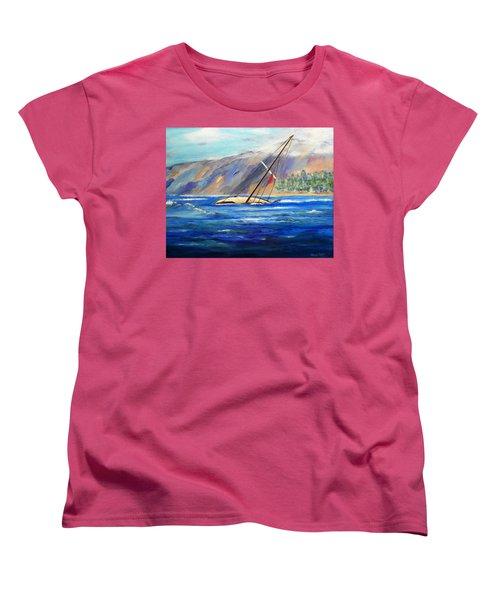 Maui Boat Women's T-Shirt (Standard Cut) by Jamie Frier
