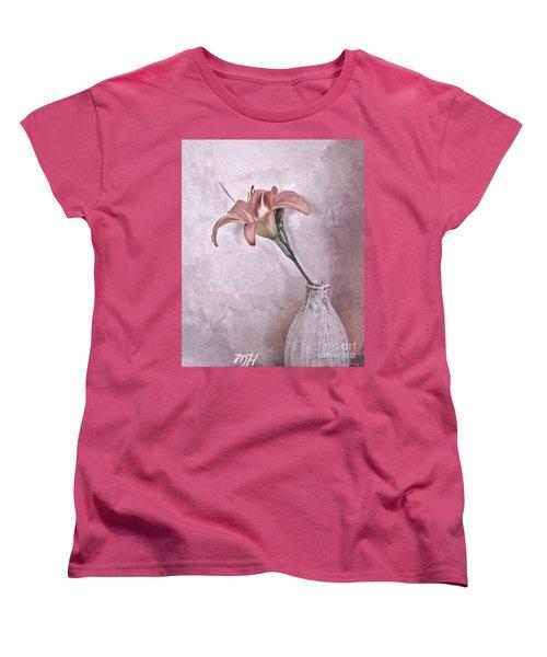 Mauve Lily Women's T-Shirt (Standard Cut) by Marsha Heiken