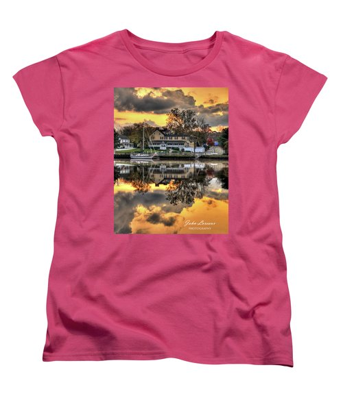 Mays Landing Sunrise Women's T-Shirt (Standard Cut) by John Loreaux