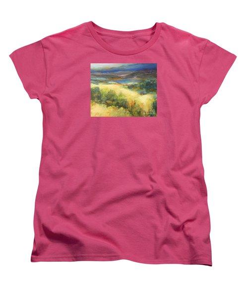 Meadowlands Of Gold Women's T-Shirt (Standard Cut) by Glory Wood