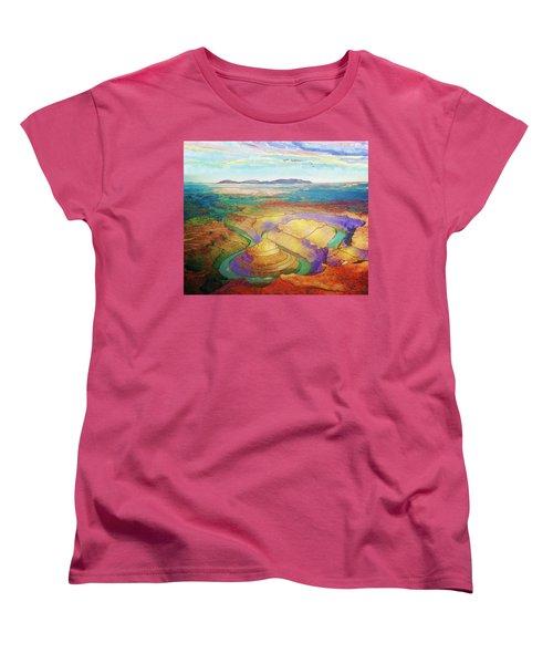 Meander Canyon Women's T-Shirt (Standard Cut)