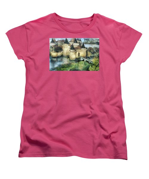 Medieval Knight's Castle Women's T-Shirt (Standard Cut) by Sergey Lukashin