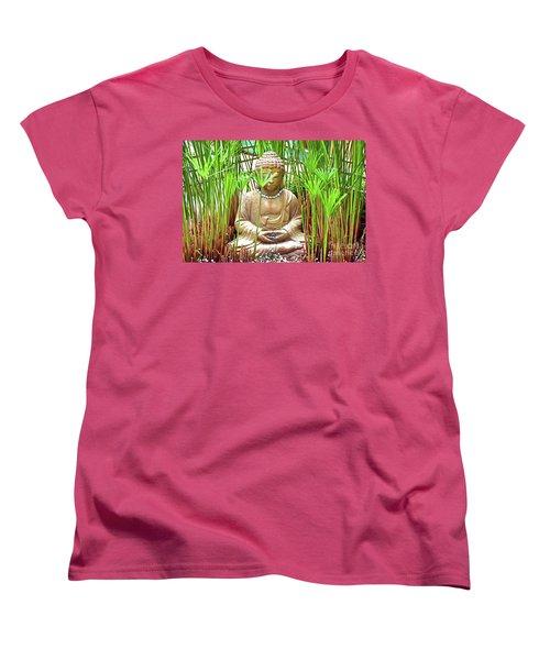 Meditation Women's T-Shirt (Standard Cut) by Ray Shrewsberry