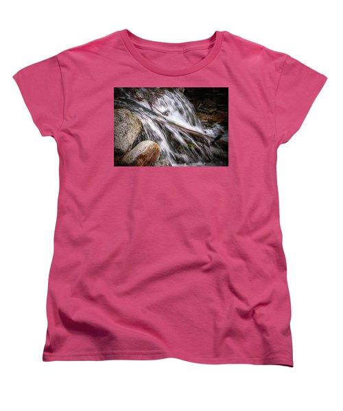 Melting Snow Falls Women's T-Shirt (Standard Cut) by Elaine Malott