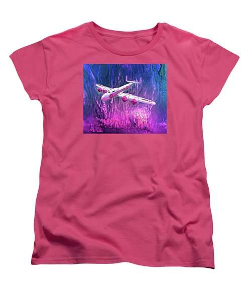Women's T-Shirt (Standard Cut) featuring the drawing Mental Get A Way by Michael Cleere