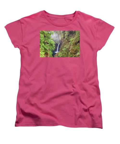 Metlako Falls In Columbia River Gorge Women's T-Shirt (Standard Fit)