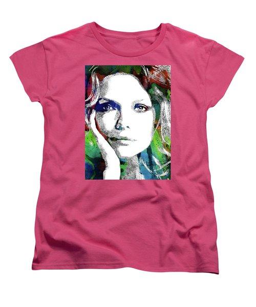 Michelle Pfeiffer Women's T-Shirt (Standard Cut) by Mihaela Pater