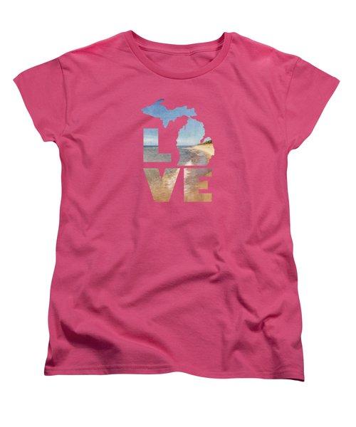 Michigan Love Women's T-Shirt (Standard Cut) by Emily Kay