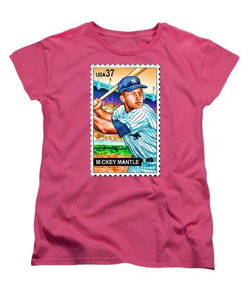 Mickey Mantle Women's T-Shirt (Standard Cut) by Lanjee Chee
