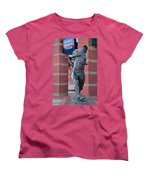 Mickey Mantle Plaza Women's T-Shirt (Standard Cut) by Frozen in Time Fine Art Photography