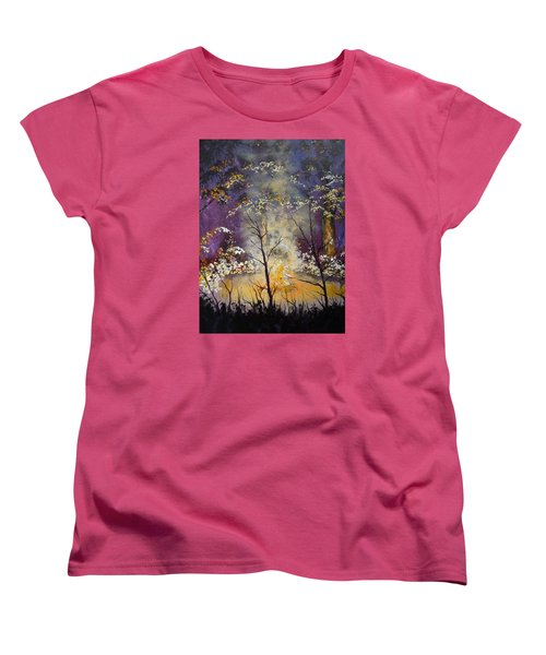 Midnight Campsite Women's T-Shirt (Standard Cut) by Dan Whittemore
