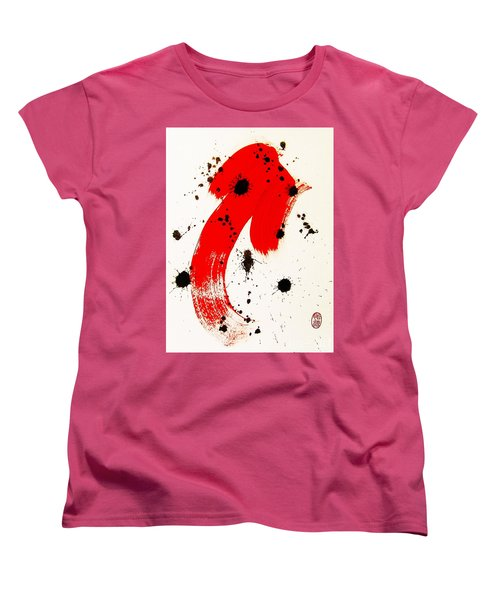 Women's T-Shirt (Standard Cut) featuring the painting Mikado Rising by Roberto Prusso