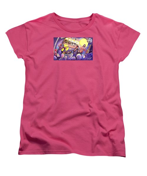 Miles Guzman Band Women's T-Shirt (Standard Cut) by David Sockrider