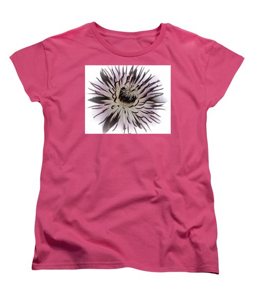 Women's T-Shirt (Standard Cut) featuring the photograph Milky Clematis by Baggieoldboy