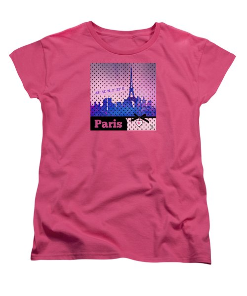 Mindy Jo's Paris  Women's T-Shirt (Standard Cut) by Mindy Bench