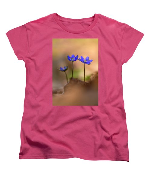 Women's T-Shirt (Standard Cut) featuring the photograph Minimalistic Impresion With Liverworts by Jaroslaw Blaminsky