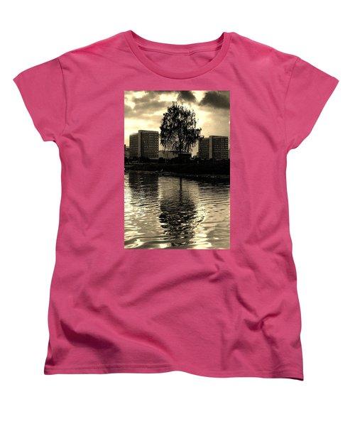Minsk Dramatic View Women's T-Shirt (Standard Cut) by Vadim Levin