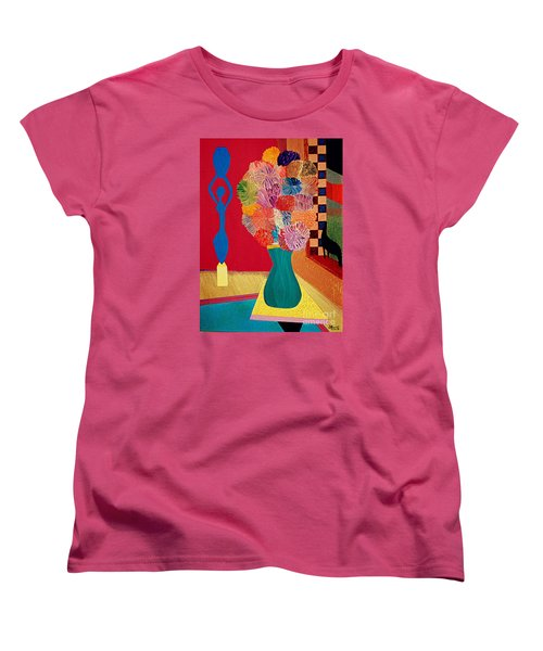 Women's T-Shirt (Standard Cut) featuring the painting Missing Henri by Bill OConnor