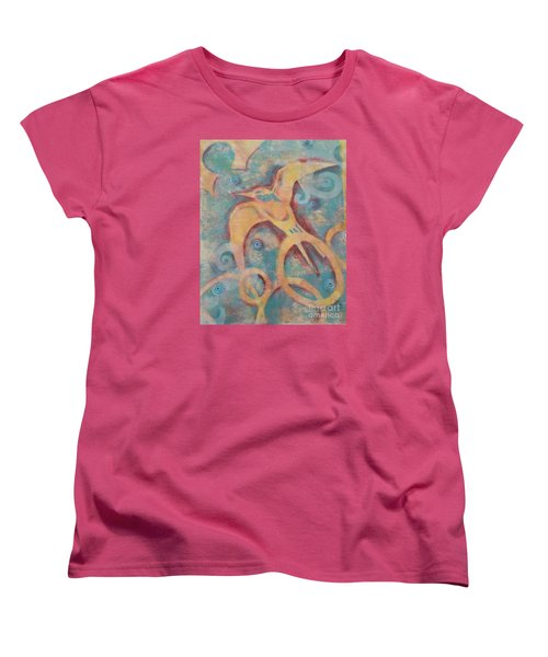 Women's T-Shirt (Standard Cut) featuring the painting Mistral's Messenger by Cynthia Lagoudakis