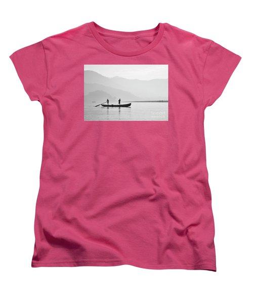 Misty Morning 3 Women's T-Shirt (Standard Cut) by Kiran Joshi