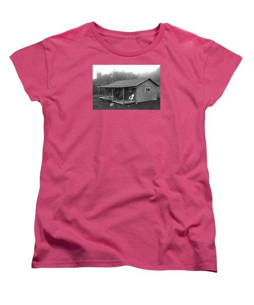 Misty Morning At The Cabin Women's T-Shirt (Standard Cut) by Jose Rojas