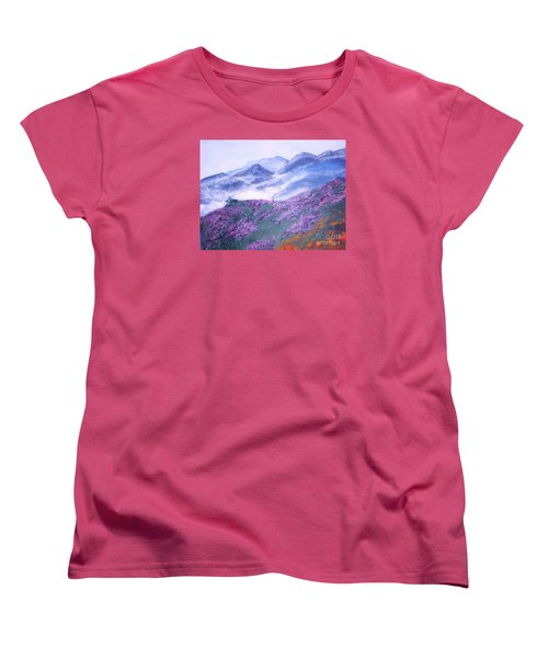 Misty Mountain Hop Women's T-Shirt (Standard Cut) by Donna Dixon
