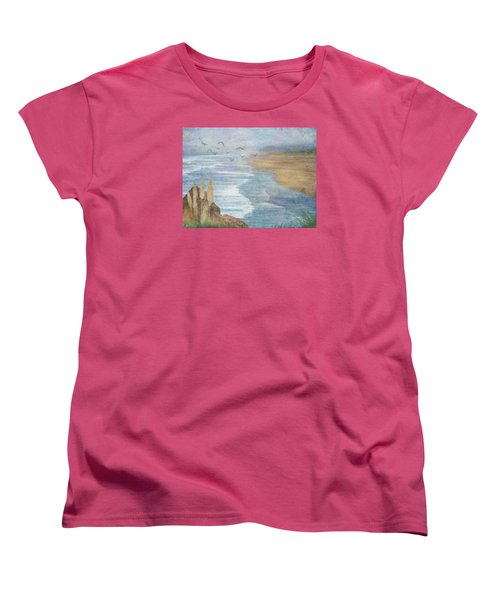 Misty Retreat Women's T-Shirt (Standard Cut) by Christina Lihani