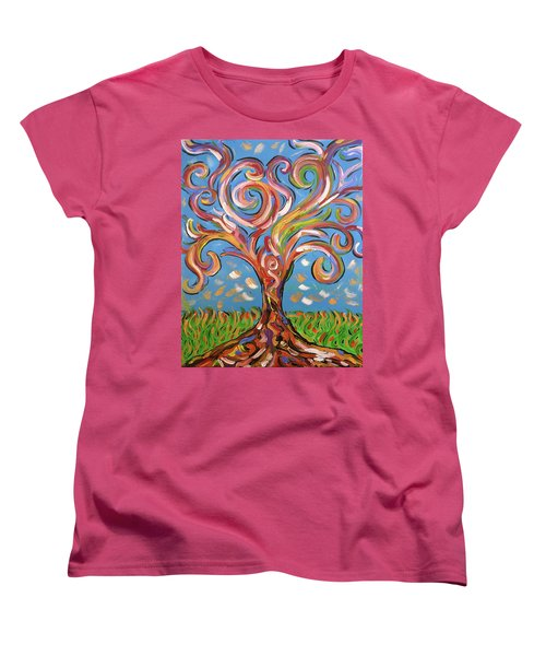 Modern Impasto Expressionist Painting  Women's T-Shirt (Standard Cut) by Gioia Albano