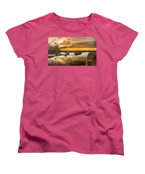 Mohegan Sun Sunset Women's T-Shirt (Standard Cut) by Petr Hejl