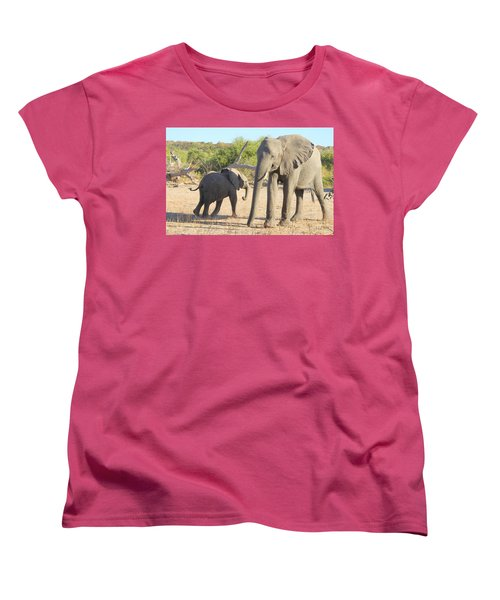 Women's T-Shirt (Standard Cut) featuring the photograph Mom And Baby by Betty-Anne McDonald