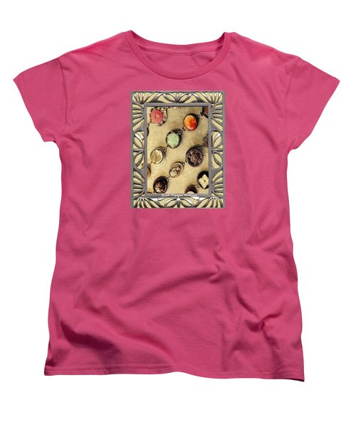 Women's T-Shirt (Standard Cut) featuring the mixed media Moments In Time Bracelet Art by Heidi Walkush