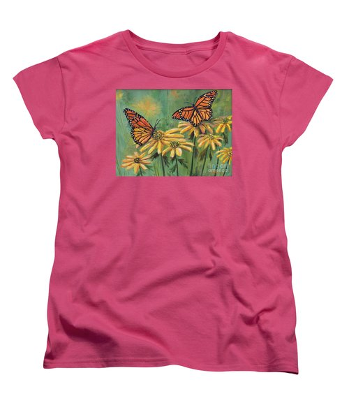 Monarch Butterflies Women's T-Shirt (Standard Cut) by Lou Ann Bagnall