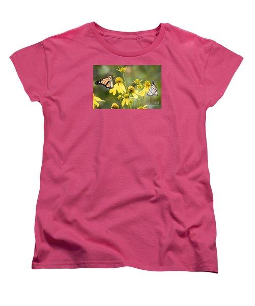 Women's T-Shirt (Standard Cut) featuring the photograph Monarchs Of Wisconsin by Ricky L Jones