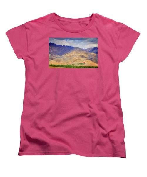Women's T-Shirt (Standard Cut) featuring the photograph Monastery In The Mountains by Alexey Stiop