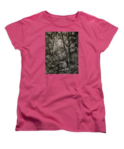 Monochrome Landscape 2 Women's T-Shirt (Standard Cut) by Megan Walsh
