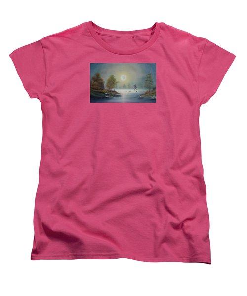Monstruo Ness Women's T-Shirt (Standard Cut) by Angel Ortiz