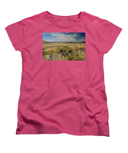 Montana Route 200 Women's T-Shirt (Standard Cut) by Cindy Murphy - NightVisions