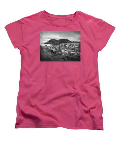 Monte Brasil And Angra Do Heroismo, Terceira Island, Azores Women's T-Shirt (Standard Cut) by Kelly Hazel