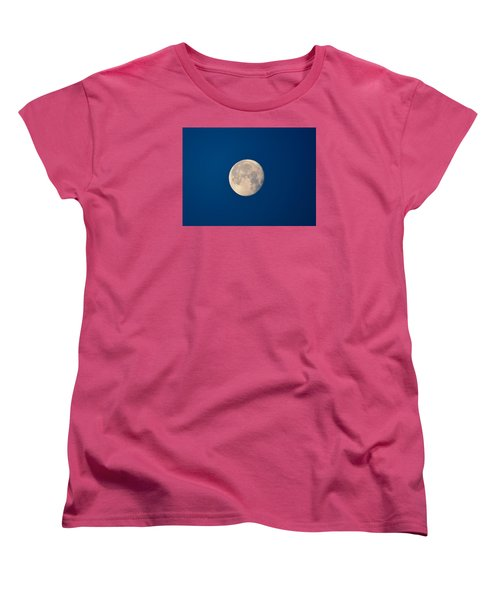 Women's T-Shirt (Standard Cut) featuring the photograph Moon In The Morning by Dacia Doroff