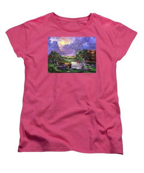 Moonlight In The Woods Women's T-Shirt (Standard Cut)